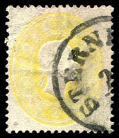 Lot 3495:1860 Franz Josef SG #33 2k yellow, Cat £43.