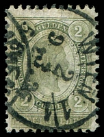 Lot 3499:1896 New Colours SG #106 2g green P10½, Cat £65.