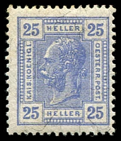Lot 3500:1899-1902 New Currency SG #114 25h blue perf 13x12½, Cat £95.