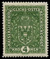 Lot 3313:1916-19 Arms SG #264 5k deep green