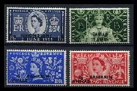 Lot 19217:1953 Coronation SG #90-3 set of 4, Cat £15.