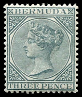 Lot 3758:1883-1904 QV Wmk Crown/CA SG #28 3d grey, Cat £23.