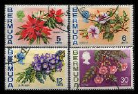 Lot 3266:1974-76 Flowers Wmk 12 Upright SG #303-6 set of 4, Cat £26.