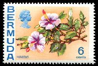 Lot 3267:1974-76 Flowers Wmk 12 Upright SG #304 6c Hibiscus