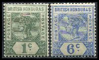 Lot 18168:1891-1901 QV Wmk Crown/CA SG #51,56 1c & 6c, Cat £17.