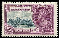 Lot 3282:1935 Silver Jubilee SG #146 25c slate & purple.