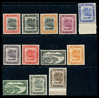Lot 3570:1947-51 New Colours and Values SG #79-90 simplified set to $1, 2c faulty, Cat £20. (12)