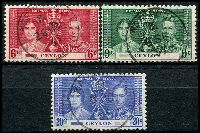Lot 3455:1937 Coronation SG #383-5 set of 3.