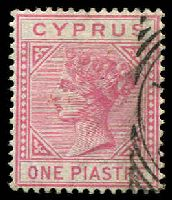 Lot 21365:1881 Wmk Crown/CC SG #12 1pi rose, Cat £32.