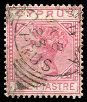 Lot 21363:1881 Wmk Crown/CC SG #12 1pi rose, Cat £32.