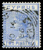 Lot 3360:1881 Wmk Crown/CC SG #13 2pi blue, Cat £35.