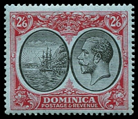 Lot 3676:1923-33 KGV Defins Wmk Mult Script CA SG #85 2/6d black & red/blue, MVLH, Cat £26.
