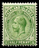 Lot 21760:1912-20 KGV Wmk Mult Crown/CA SG #60 ½d yellow-green.