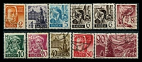 Lot 3531:1948 No Currency: Mi #28-37 set of 10, plus 6pf MUH, Cat €220. (11)