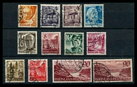 Lot 22358:1948 No Currency: Mi #32-41 complete set with extra 90pf, Cat €570.