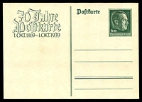 Lot 19214:1939 Postcard Centenary Mi #PII 6+19pf green, Cat €35. Unissued