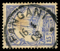 Lot 3814:Pangani: 'PANGANI/16/4/08' on 15h blue.