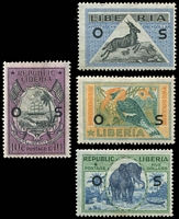 Lot 3886:1920 Pictorials 'OS': Sc #O117,124-6,10c, $1, $2 & $5, Cat $47.