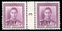 Lot 4078:1947-52 KGVI Counter Coils CP #MC2e 4d number '3' pair.