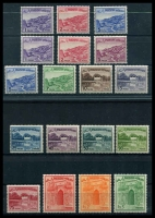 Lot 4147:1961-63 Definitives SG #128-44b set of 19, Cat £42.