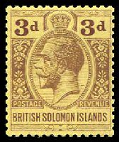 Lot 4150:1914-23 KGV Postage Revenue Wmk Mult Crown CA SG #28 3d purple/pale yellow, Cat £28.