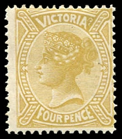 Lot 11649:1901 Re-Issue of No Postage Designs Perf 12x12½ SG #379 4d bistre-yellow, Cat £25.