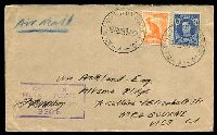 Lot 855:Aust Adv Base P.O. 'NO.3 AUST ADV BASE P.O./1000HRS19JY44/A' (Townsville, Qld) on ½d & 3½d on air cover to Melbourne, with light boxed 'AUSTRALIAN/MILITARY FORCES/PASSED BY CENSOR