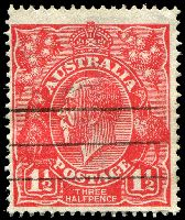 Lot 321:1½d Red Die I [17L53] Scratch from point of neck to O of POSTAGE.
