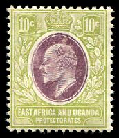 Lot 19199:1907-08 New Currency SG #37 10c lilac & pale olive, Cat £11.