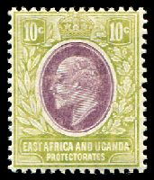 Lot 20622:1907-08 New Currency SG #37 10c lilac & pale olive, Cat £11.