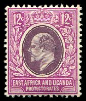 Lot 19200:1907-08 New Currency SG #38 12c dull & bright purple, Cat £10.