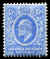 Lot 19201:1907-08 New Currency SG #39 15c bright blue, Cat £30.