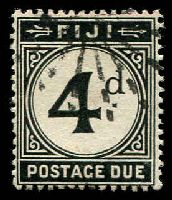Lot 19625:1918 Wmk Multi Crown/CA SG #D10 4d black with starburst cancel, Cat £30.