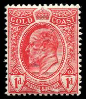 Lot 3549:1908 KEVII Shields SG #70 1d red.