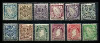Lot 3699:1922-34 Definitives SG #71-82 set of 12, Cat £65.