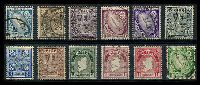Lot 3815:1922-34 Definitives SG #71-82 set of 12, Cat £40.