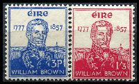 Lot 3831:1957 William Brown SG #168-9 set of 2, Cat £28.