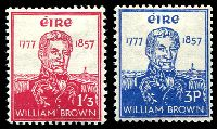 Lot 23641:1957 William Brown SG #168-9 set of 2, Cat £28.