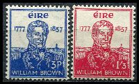 Lot 3816:1957 William Brown SG #168-9 set of 2, Cat £28.