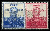 Lot 3817:1957 William Brown SG #168-9 set of 2, Cat £17.