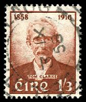Lot 3703:1958 Tom Clarke SG #173 1/3d red-brown, Cat £11.