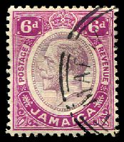 Lot 3740:1912-20 KGV Wmk Mult Crown/CA SG #64 6d dull purple & bright purple, Cat £10.