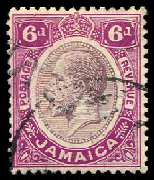 Lot 3852:1912-20 KGV Wmk Mult Crown/CA SG #64 6d dull purple & bright purple, Cat £10.