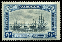 Lot 3743:1921-29 Pictorials SG #101a 6d grey & dull blue, Cat £15.