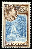 Lot 3744:1938-52 Pictorials SG #131 2/- Bamboo, MUH, Cat £35.