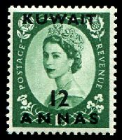 Lot 25220:1956 QEII SG #118 12a on 1/3d, Cat £10.