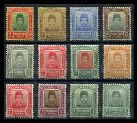 Lot 3874:1910-19 Sultan Zain Ul Ab Din SG #1-10 1c to 10c with all 'a' numbers ex 10c purple/yellow, 4c carmine-red has perf faults, Cat £24. (12)