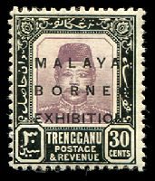 Lot 3945 [1 of 5]:1922 Malaya Borneo Exhibition SG #49-56 4c, 10c, 25c, 30c & 50c, Cat £33. (5)