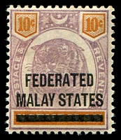 Lot 22782:1900 'FEDERATED/MALAY STATES' on Negri Sembilan SG #5 10c dull purple & orange, Cat £17.