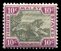 Lot 3826:1904-22 Wmk Mult Crown CA SG #43b 10c black & claret, Cat £42.